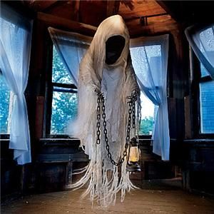 Halloween yard props ghosts and yards on pinterest for Animated floating ghost decoration