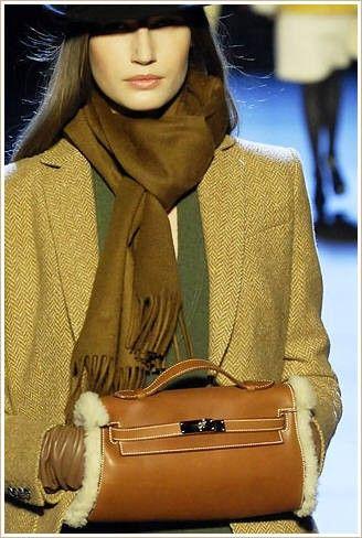 Winter style, purse warmer.
