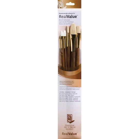 Princeton Art Brush Co Realvalue Natural Synthetic Brush Set