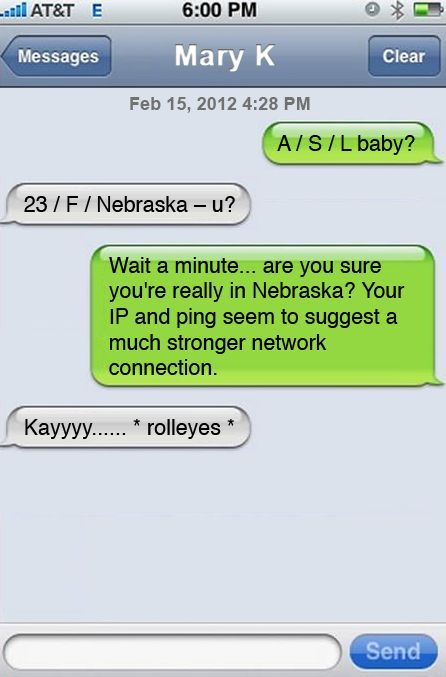 Examples of freaky text messages