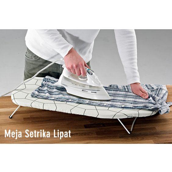 Foldable Ironing Board, Meja setrika lipat dengan kualitas & Bahan Bagus Serta Hemat Ruang