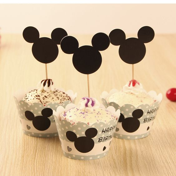 Mickey Mouse Theme Party Series Pcs Cupcake Wrapperpcs Topper - Children's birthday parties rossendale