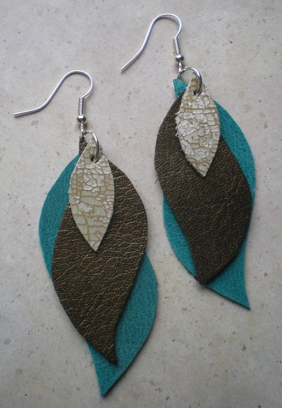 Leather Earring Pattern: