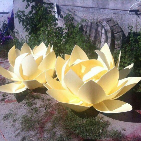 Big Lotus Flower Paper Gardening Flower And Vegetables
