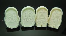 Frete grátis 1 lote = 4 pc 60G Mold Mould dos desenhos animados assecla Soap me desprezível bolinho de imprensa Fondant Bolo Decoração pasta de açúcar artesanato(China (Mainland))