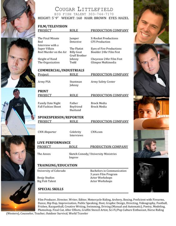 Acting Resume Jpg 1000 1289 Acting Resume Actor Quotes Acting