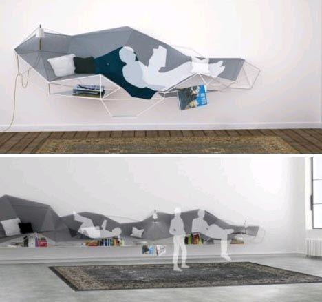 Hanging furniture. Interesting...
