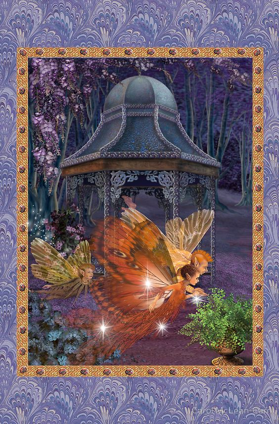 Fairy Dreams greeting card 6 by Carol McLean-Carr