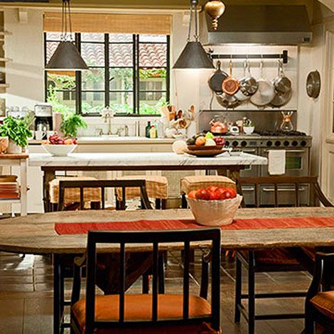 "One of my favorite movie kitchens--from ""It's Complicated."": Movie House, Dining Room, Nancy Meyer, Dream Home, Itscomplicated"