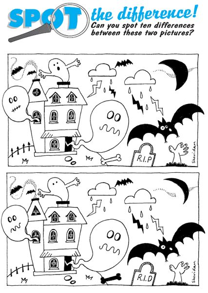 math worksheet : halloween spot the difference printables  spot the difference  : Spot The Difference Worksheets For Kindergarten
