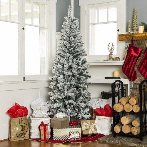 Best Slim Artificial Christmas Trees 2020 Best Flocked Fake Christmas Trees 2020 • Absolute Christmas | Slim