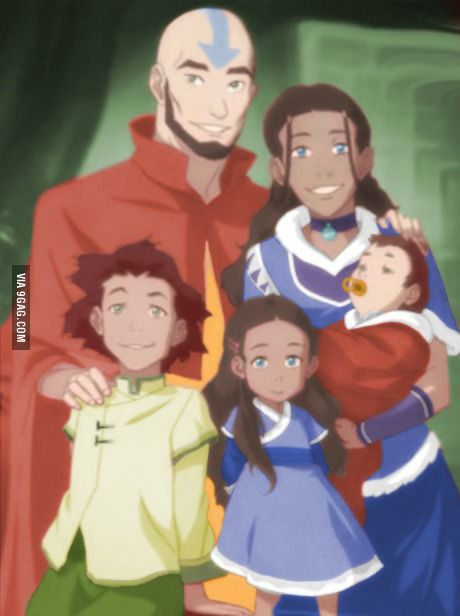 Avatar Aang and his family