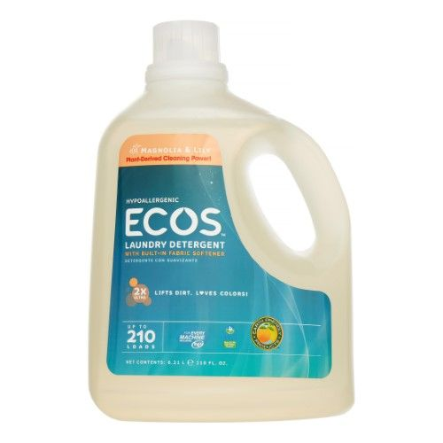 Ecos All Natural Liquid Laundry Detergent Magnolia And Lily 210