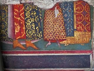 Court dress from a 15thC fresco, Kariye Djami.