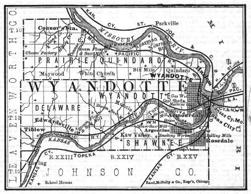 Old Wyandotte County Map Big Papi Taco TP Pinterest Kansas - Ks map with counties and cities
