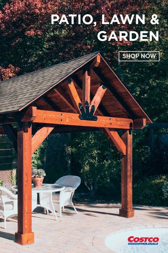 Pin By Lena On Small Backyard Landscaping In 2020 Backyard Pavilion Backyard Gazebo Outdoor Patio Designs