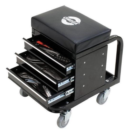 Rolling Tool Box Creeper Seat Mechanic Garage Storage Organizer Cabinet Drawer…