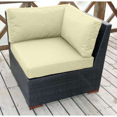 Bay Isle Home Scholtz Corner Sectional Chair with Cushion Fabric Color: