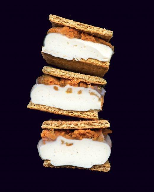Pumpkin. Ice Cream. Sandwich.