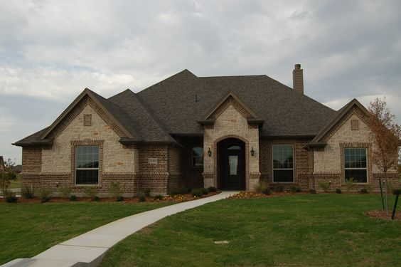 Bricks stones and brick and stone on pinterest for Brick and stone elevations