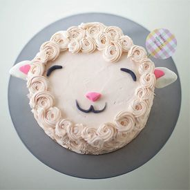 Make A Super Cute Fluffy Lamb Cake With This Simple Decorating Tutorial