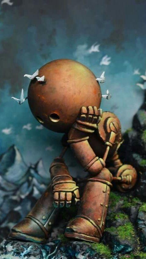 Robot 9 16 Arte Robot Arte De Cómics Batman Caricatura