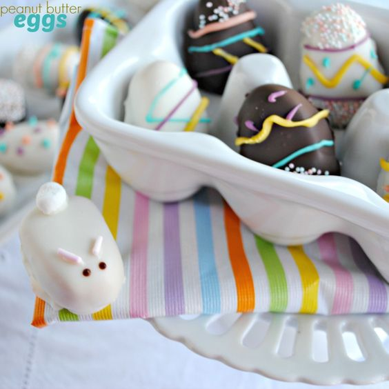 Chocolate Peanut butter Eggs...using an easy recipe, make these homemade Reese's into fun spring shapes!