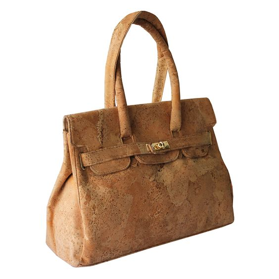 Najha Natural Cork Bag - http://www.transfashions.com/en/brands/bags/najha/najha-natural-cork-bag.html Bag in natural cork with hand and arm handle. #Bag opening with lock with straps Linning 100% organic cotton color beige with two pockets, one mobile pocket with two divisions, and one zipped pocket.   Natural Cork Bag