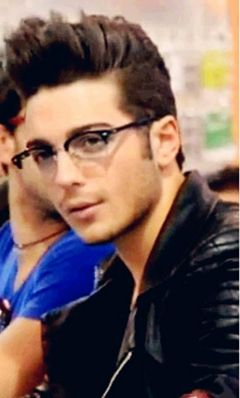 Gian with his glasses.