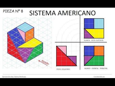 8 Sistema Americano Ej 8 Ejercicios De Vistas Dibujo Tecnico Frontal Lateral Superior Sistema A Tecnicas De Dibujo Vistas Dibujo Tecnico Ejercicios De Dibujo