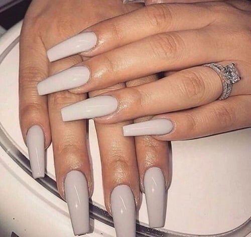 Instagram Baddie Nails Google Search Coffin Nails Long Grey Acrylic Nails Acrylic Nails