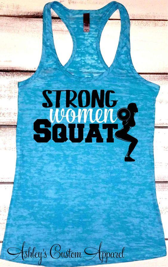 Squat Tank, Womens Fitness Tank, Ladies Workout Tank, Strong Women Squat, This is Why I Squat, Gym Shirt, Squat Shirt, Girls Who Lift, Gift  by AshleysCustomApparel
