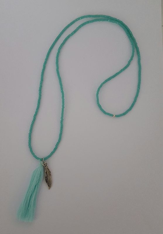 Turquoise opal facet necklace