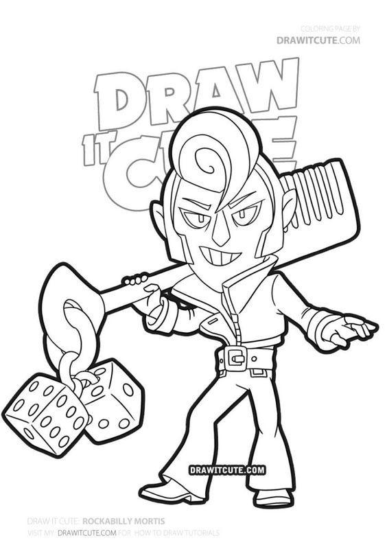 How To Draw Rockabilly Mortis Brawl Stars Draw It Cute Ausma
