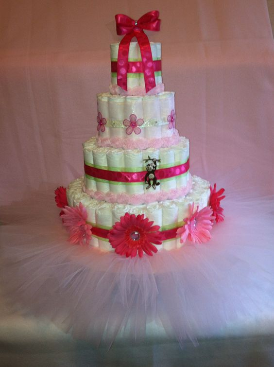 tutu baby showers baby showers diaper cakes shower ideas tutus diapers