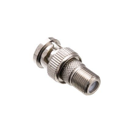 100PK BNC Male to F-Type Female Video Adapter