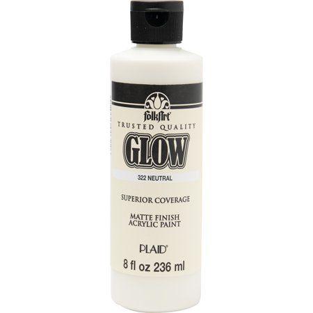 Folkart 322e Glow In The Dark Acrylic Craft Paint Matte Neutral 8 Fl Oz Walmart Com Glow Paint Acrylic Craft Paint Glow