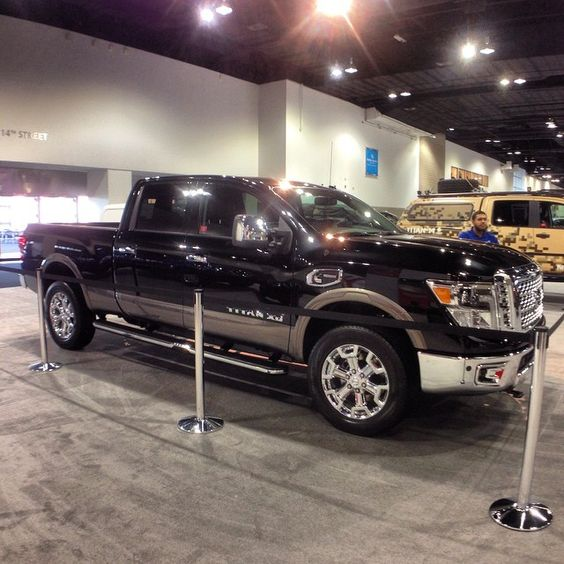 the 2016 nissan titan xd with a cummins diesel engine spotted at the denver auto show that 39 s. Black Bedroom Furniture Sets. Home Design Ideas