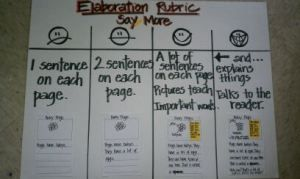 Elaboration Rubric for non fiction writing.