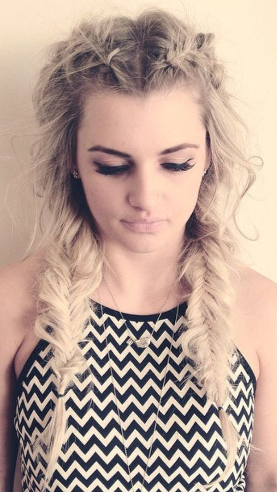 Hair by Camille fishtail braids Hair Pinterest Dutch fishtail