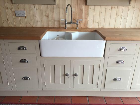 Butler Sink Unit Bespoke Design In Reclaimed Pine