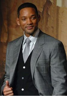 Will Smith completes his gray #Tuxedo with a tailored black #TuxedoVest.: