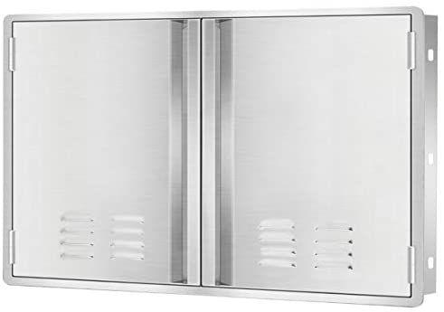 Amazon Com Marada Outdoor Kitchen Doors 304 Stainless Steel Access Bbq Doors With Vents All Brushed Stainless Steel Kitchen Doors Outdoor Kitchen Bbq Island