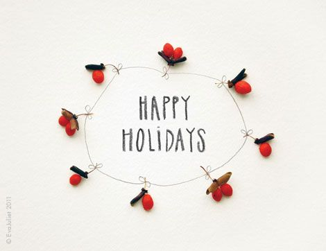 Mon carnet: free printable holiday cards in French and English