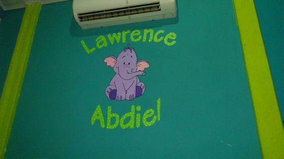 dibujo de pared del cuarto de mi bebé