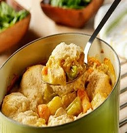 WW Crockpot Chicken & Biscuits Stew- 8 PointsPlus+, Makes 8 servings at 1-1/4 cups per serving.
