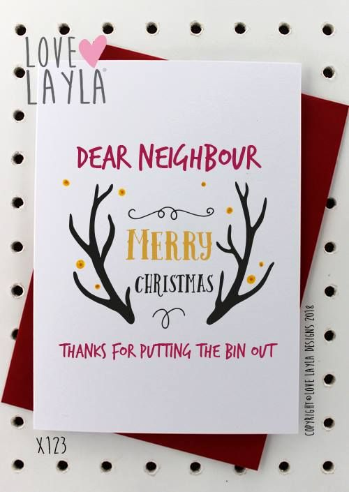Funny Christmas Cards For Neighbours : funny, christmas, cards, neighbours, Humour