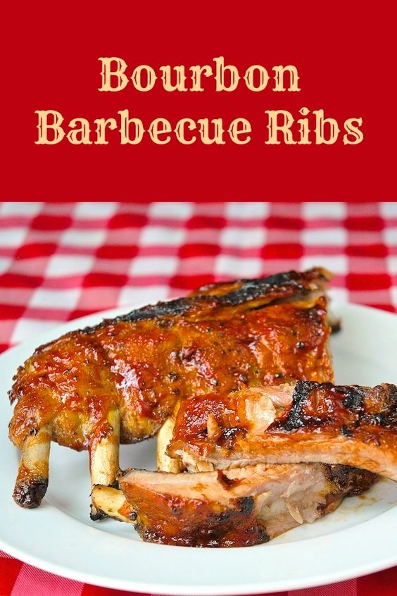 Bourbon Barbeque Ribs - slow cooked tender ribs with an easy homemade ...