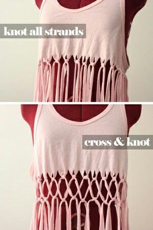 knotted fringed shirt