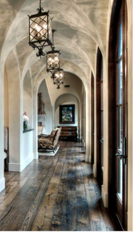 Gorgeous hallway with amazing hardwood floors labor for Tuscan floors